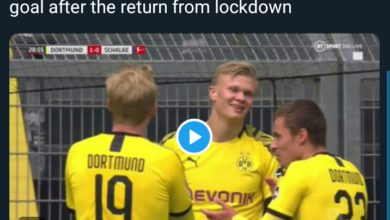 Photo of GOALLL! Erling Haaland Scores A BEAUTY! Dortmund 4-0 Schalke (VIDEO)