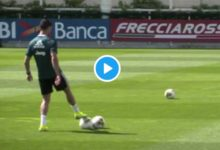 Photo of WATCH: Cristiano Ronaldo Scores A Goal Into Basketball Net In Juventus Training (VIDEO)