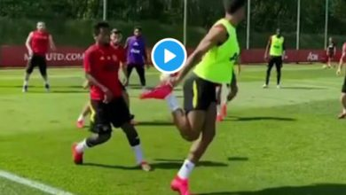 Photo of WATCH: Marcus Rashford Outrageous PASS In Man Utd Training (VIDEO)