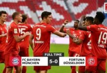 Photo of FT: Bayern Munich 5-0 Fortuna Düsseldorf, Lewandowski Scores Brace In 5nil Thrashing (Video Highlight)
