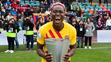Photo of African Best Player Oshoala Wins First League Title As Barcelona Reclaims Premier Iberdrola Crown
