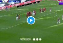 "Photo of ""At last!"": Cristiano Ronaldo Happy To Score His First Juventus Free-kick (VIDEO)"