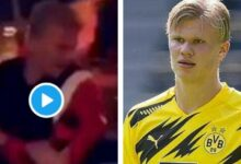 Photo of OMG! Borussia Dortmund Star Erling Haaland Thrown Out Of Club In Norway (VIDEO)