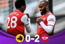 Photo of FT: Wolves 0-2 Arsenal, Bukayo Saka And Lacazette STRIKES (Match Highlight)