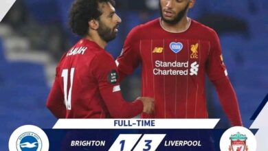 Photo of FT: Brighton 1-3 Liverpool, Mohamed Salah Hit BRACE (Match Highlight)