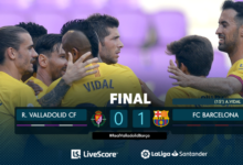Photo of FT: Real Valladolid 0-1 Barcelona, Vidal STRIKE Gives Barca 3 Points (Match Highlight)