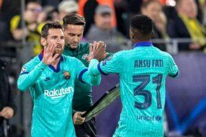 Fati and Messi