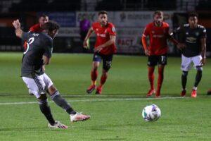 Mata goal Man United Luton