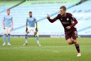 Man City Leicester Jamie Vardy