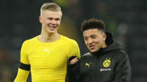 Haaland Sancho Man United Dortmund