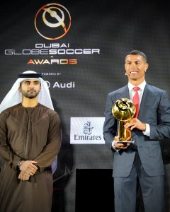 Cristiano Ronaldo Globe soccer awards player of the century