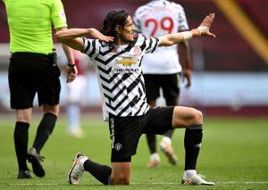 Aston Villa Man United Edinson Cavani